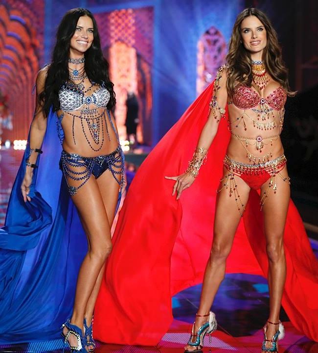 Adriana Lima Alessandra Ambrosio Fashion Show Victoria's Secret 2014